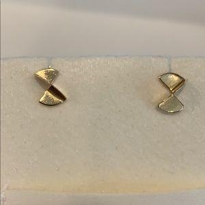 14k Gold Geometric Stud Designer Earrings